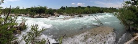 Rapida sul Piave a Nervesa della Battaglia (TV). Foto di Renzo Fornaro