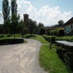 Il sentiero che conduce alla villa