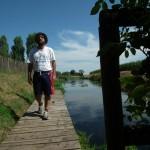 Checco esplora il corso del fiume Meolo