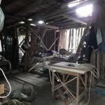 Una stalla oggi adibita a falegnameria