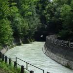 Il canale artificiale verso la diga