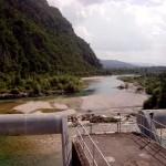 Il Piave visto dalla diga di Soverzene