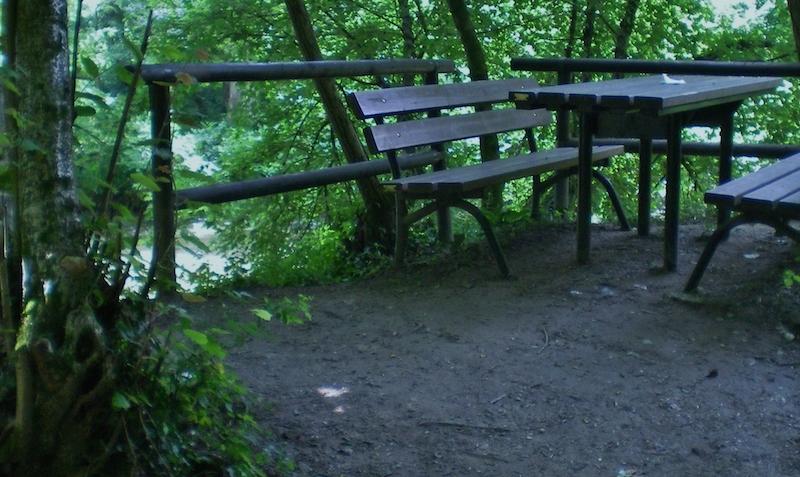 Area sosta lungo il Percorso Naturalistico (Falzé di Piave). Foto di Samuele Tonellato.