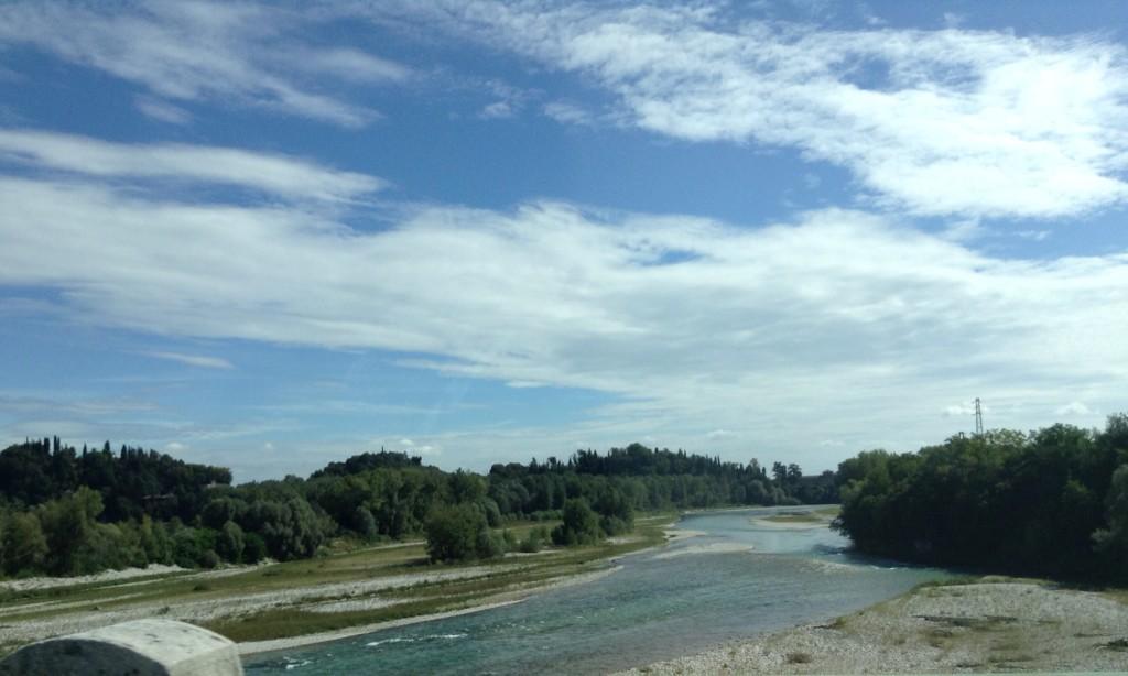 Il Piave in località Ponte della Priula (TV). Foto di Valeria Fresco
