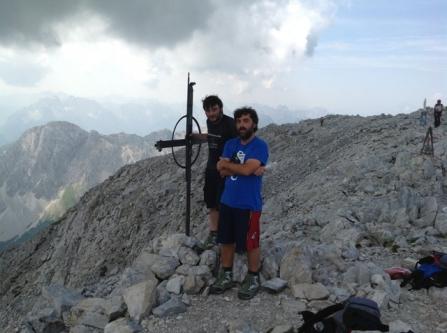 L'arrivo sul Monte Peralba!