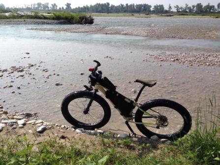 In bici lungo il Piave. Foto di Renzo Fornaro