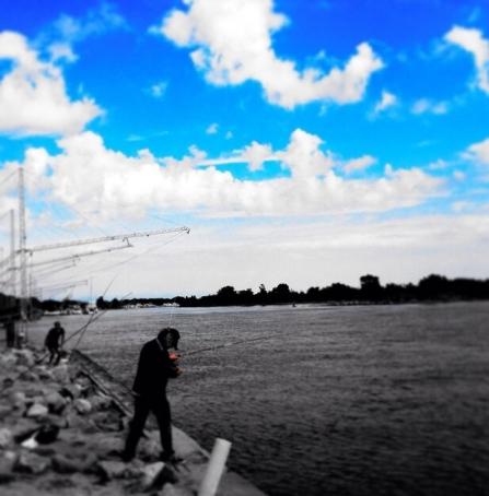 Pesca alla foce del Piave a Cortellazzo. Foto di Manuel Tonel